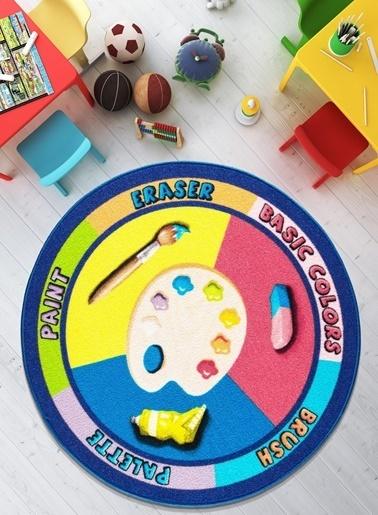 Confetti Palette Çocuk Odası Anaokulu Eğitici Oyun Halısı Renkli